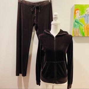 JUICY COUTURE VELOUR COCO BROWN TRACKSUIT